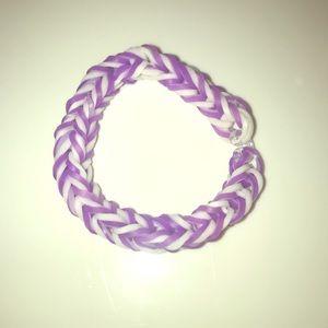 Purple and white bracelet